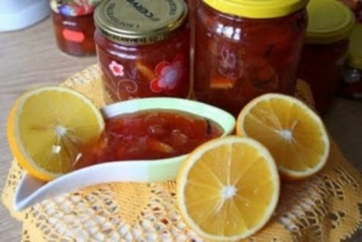 Kriaušių džemas su apelsinais