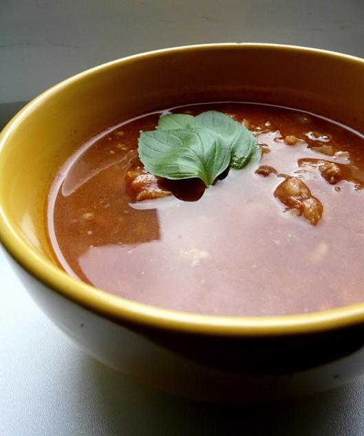 Pomidorų sriuba su ryžiais