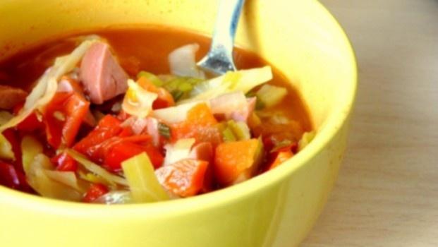 Aštri kopūstų sriuba