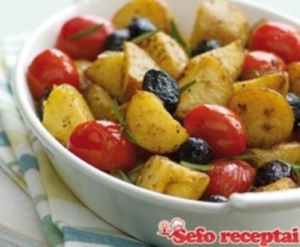 Keptos bulvės su pomidorais