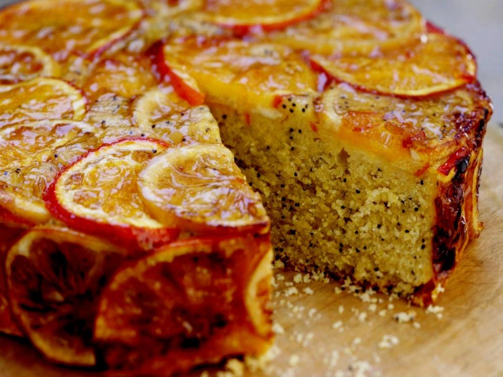 Aguonų pyragas su mandarinais