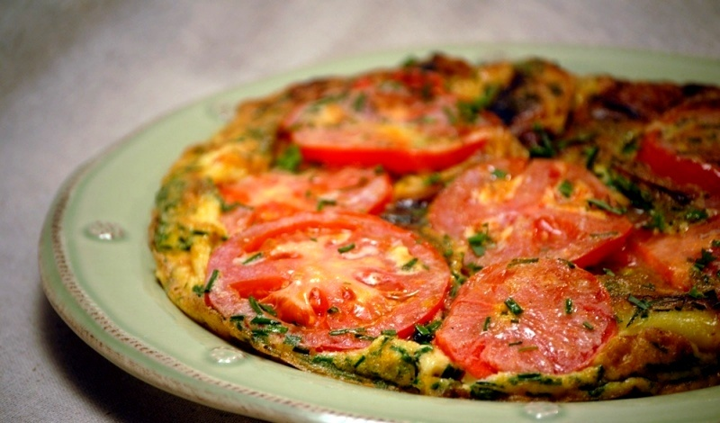 Bulvių – pomidorų omletas