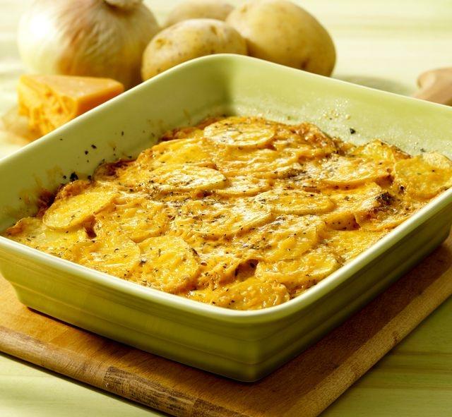 Bulvių užkepėle su sūriu