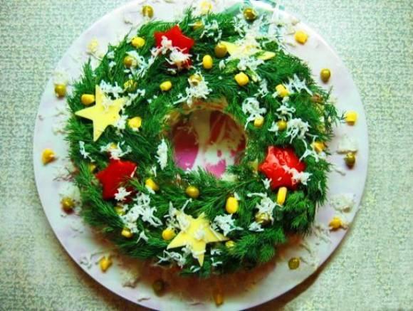 Kalėdų vainiko salotos