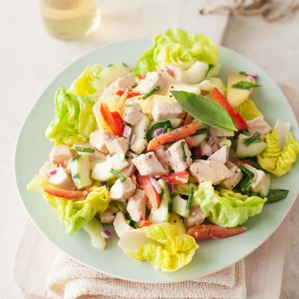 Traškios salotos su vištiena