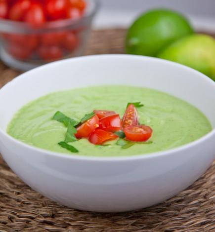 Šalta avokadų sriuba