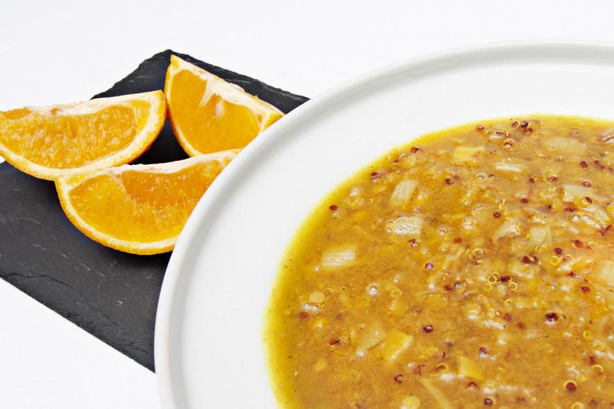 Lęšių ir kynvos sriuba su imbieru bei apelsinais
